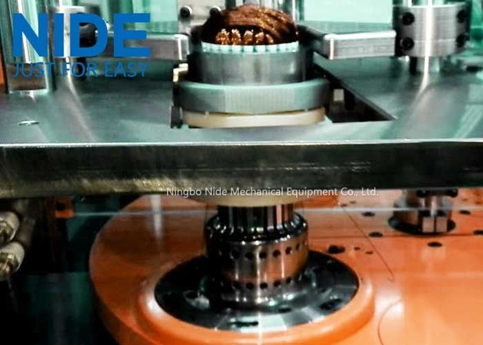 Full Auto Stator Winding Machine / Inserting Machine For Single Phase Fan Motor