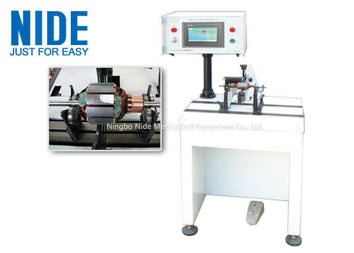 PLC Controlled Armature Balancing Machine , Automatic Motor Rotor Testing Equipment