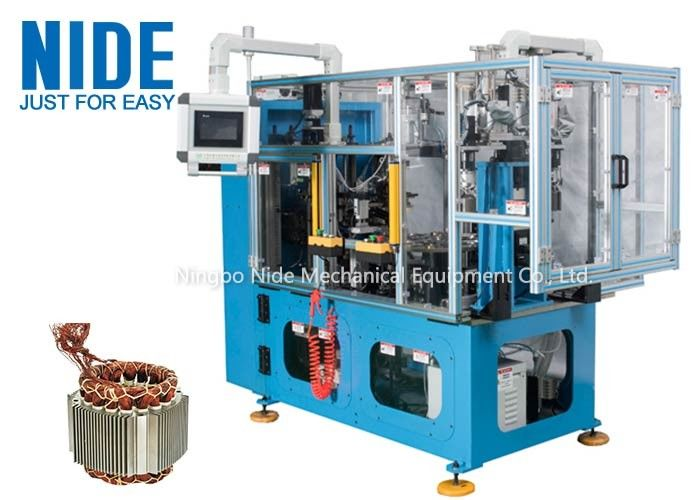 4 Stations Electric Motor Stator Wire Lace Machine / Blue Coil Lacer Machine