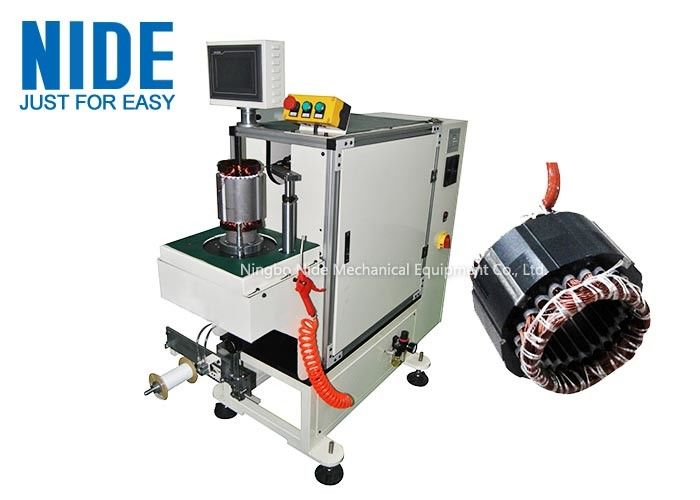 Programmable automatic stator end coil lace machine Single working station