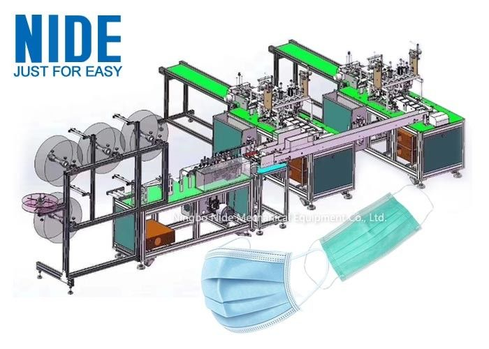 Automatic disposable earloop medical protective face mask production line from China mase making machine manufacturer
